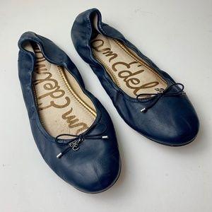 Sam Edelman Felicia Ballet Flats Size 12 Navy Blue
